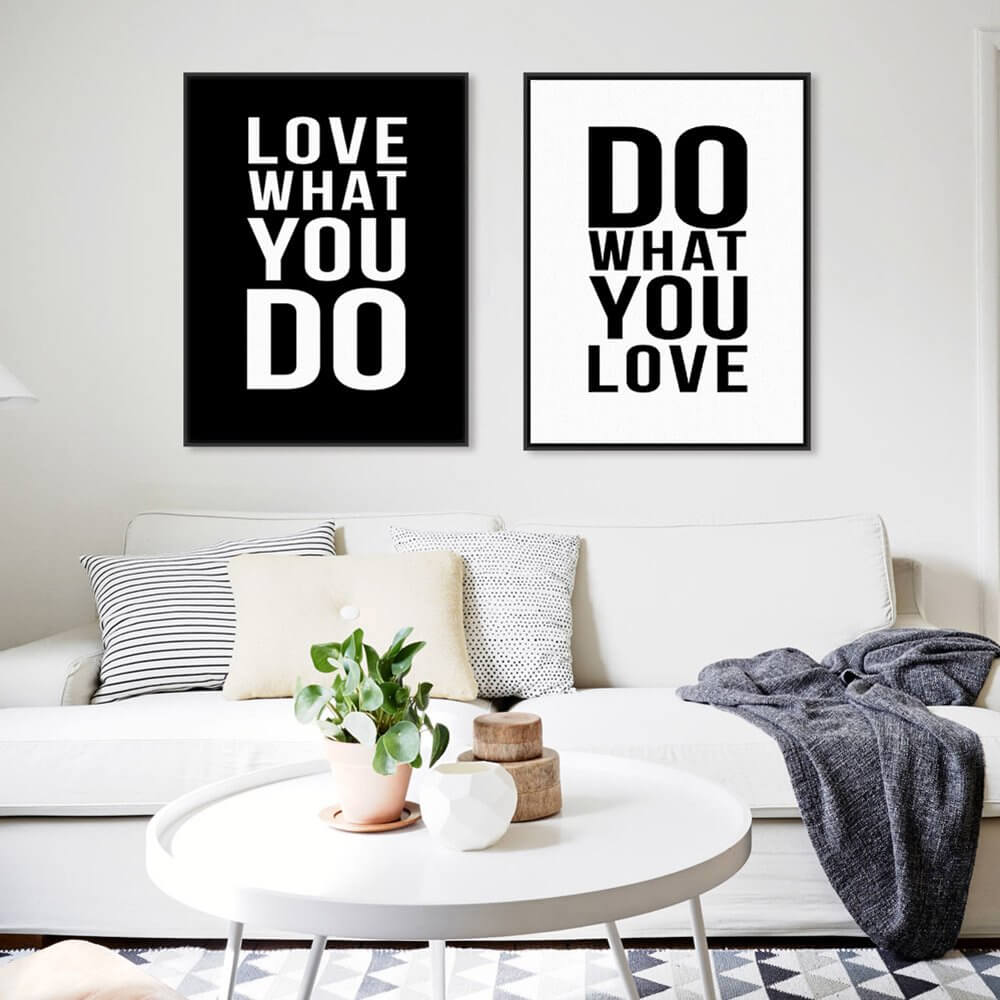 Minimalist-Black-White-Motivational-Typography-Love-Quotes-A4-Poster-Print-Vintage-Picture-Canvas-Painting-Wall-Art